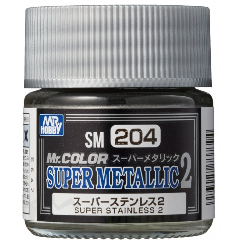 SM-204 Mr. Color Super Metallic 2 - Super Stainless 2 (10ml)