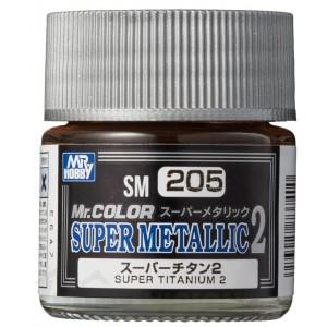 SM-205 Mr. Color Super Metallic 2 - Super Titanium 2 (10ml)