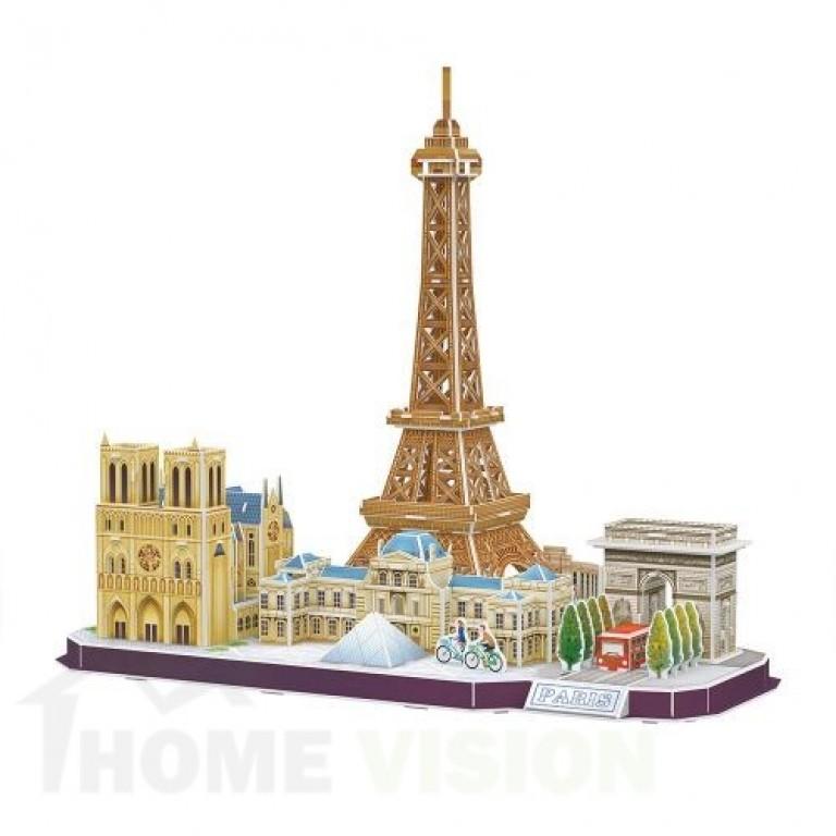 3D Пъзел Cubic Fun от 114 части - City Line Paris
