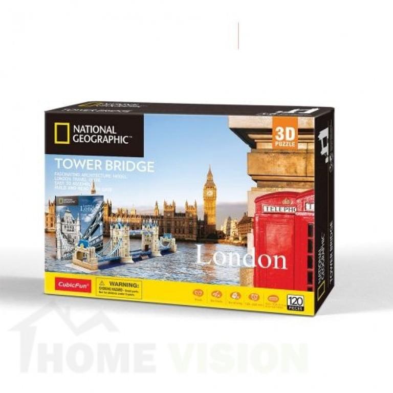 3D Пъзел Cubic Fun от 120 части - Tower Bridge, London