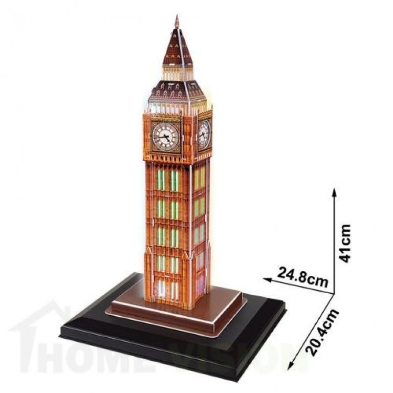 3D Пъзел Cubic Fun от 28 части и LED светлини - Big Ben (U.K.)