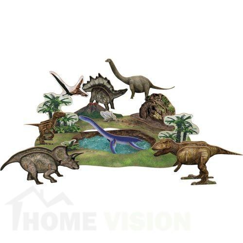 3D Пъзел Cubic Fun от 43 части - Динозаври