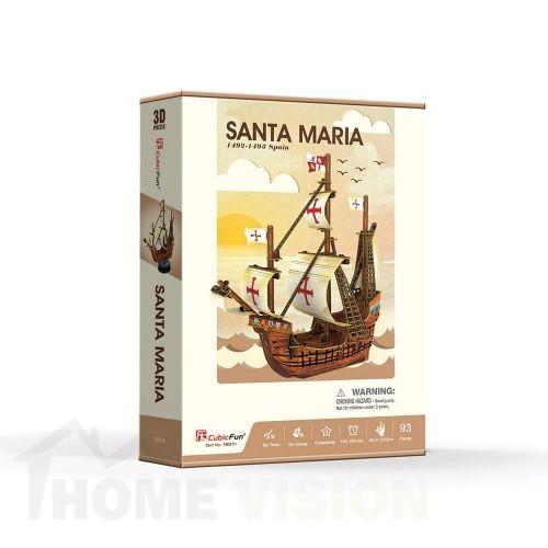 3D Пъзел Cubic Fun от 93 части - Santa Maria