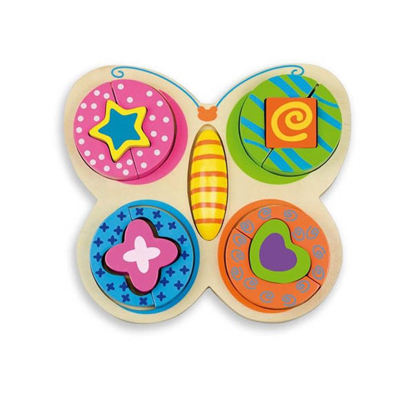 Дървен пъзел Andreu toys - Пеперуда