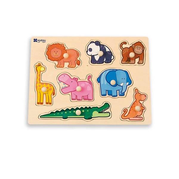 Дървен пъзел Andreu toys - Джунгла