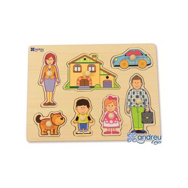 Дървен пъзел Andreu toys - Семейство