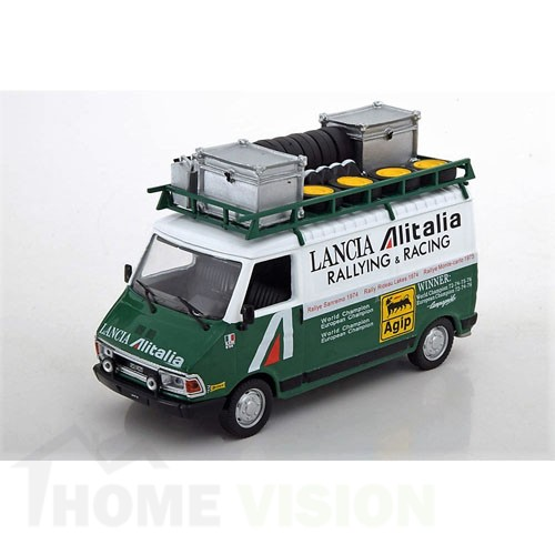 Fiat 242, white/green, Alitalia Rally Assistance with Roof rack