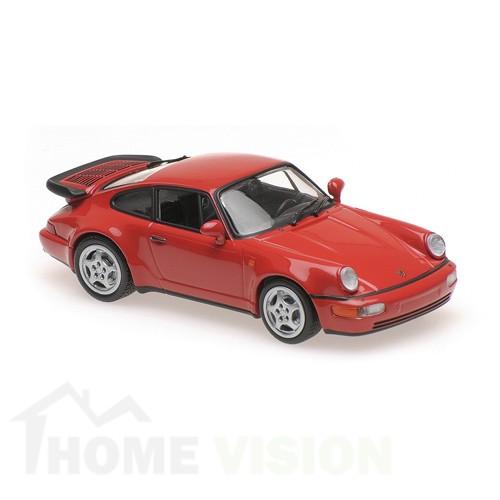 PORSCHE 911 TURBO (964) - 1990 – RED – MAXICHAMPS