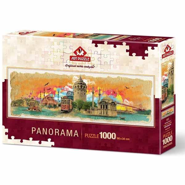 Панорамен пъзел Art Puzzle от 1000 части - Колаж на Истанбул, Ерен Малчок