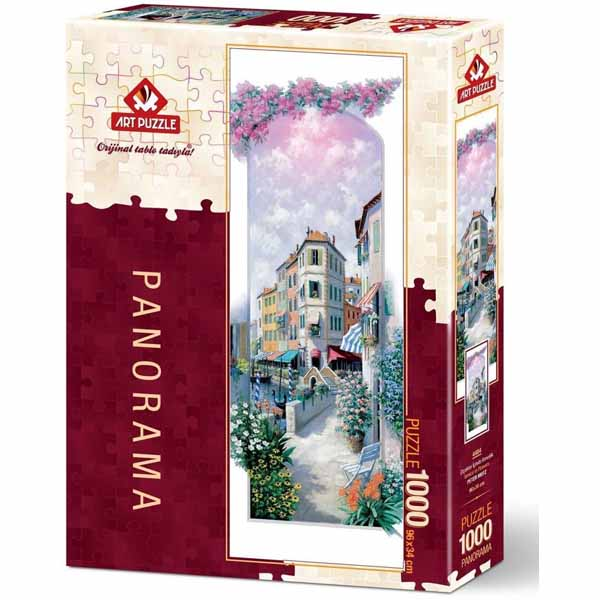 Панорамен пъзел Art Puzzle от 1000 части - ВенецияПанорамен пъзел Art Puzzle от 1000 части - Венеция в цветя, Питър Моц в цветя, Питър Моц