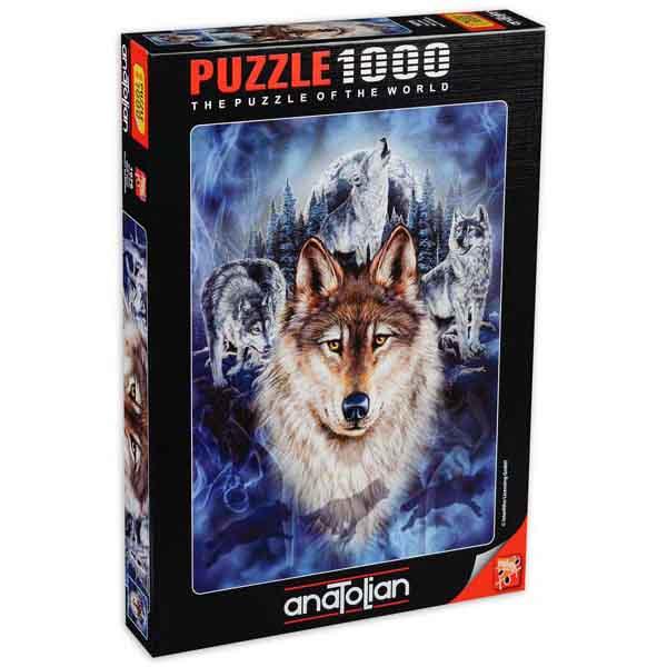 Пъзел Anatolian от 1000 части - Глутница вълци, Стивън Гарднър