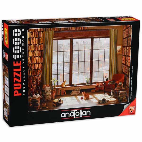 Пъзел Anatolian от 1000 части - Котки на прозореца