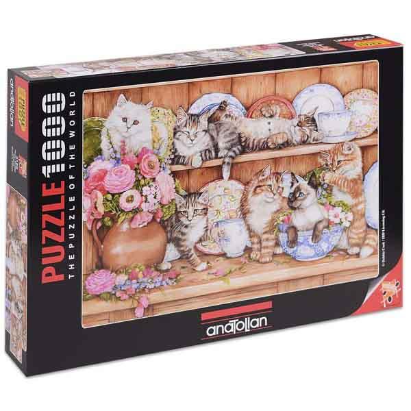 Пъзел Anatolian от 1000 части - Палави котета