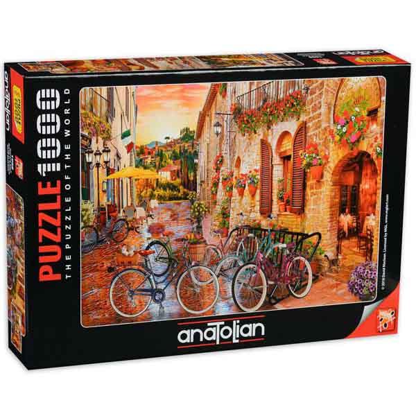 Пъзел Anatolian от 1000 части - Разходка с велосипед в Тоскана
