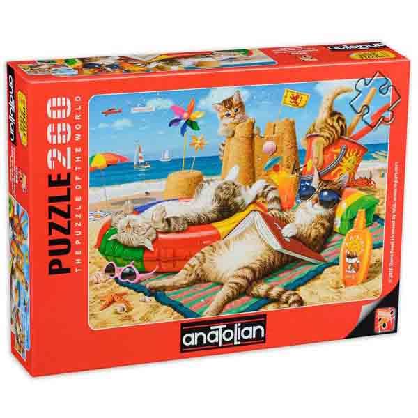 Пъзел Anatolian от 260 части - Котки на плажа, Стив Рийд