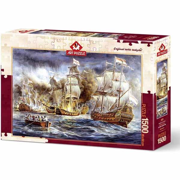 Пъзел Art Puzzle от 1500 части - Корабна война, Алмар Заадстра