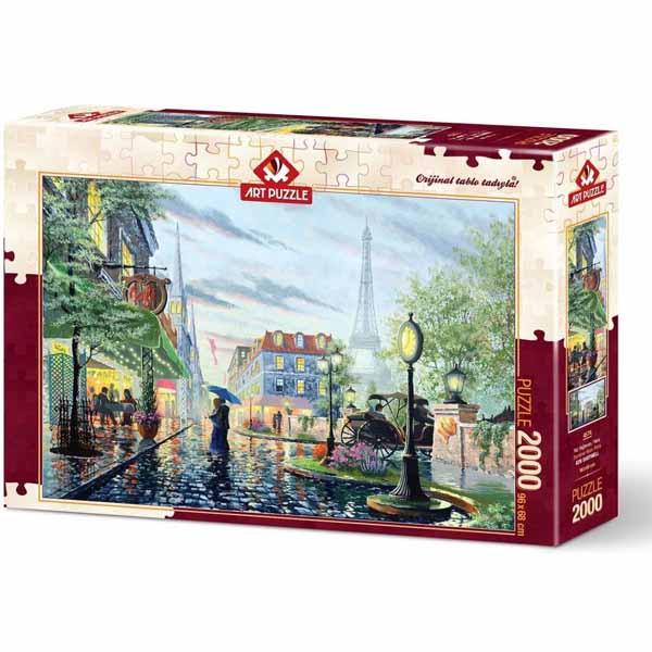 Пъзел Art Puzzle от 2000 части - Летен дъжд, Париж, Кен Шотуел