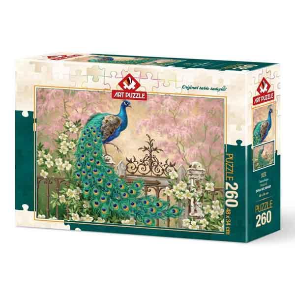Пъзел Art Puzzle от 260 части - Паун, Дона Гелсингър