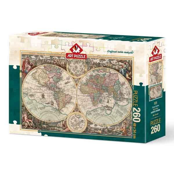 Пъзел Art Puzzle от 260 части - Световна карта, Алберто Росини