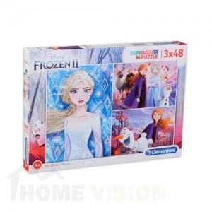 Пъзел Clementoni 3 x 48 части - Frozen 2