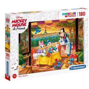 Пъзел Clementoni от 180 части - Мики Маус и приятели