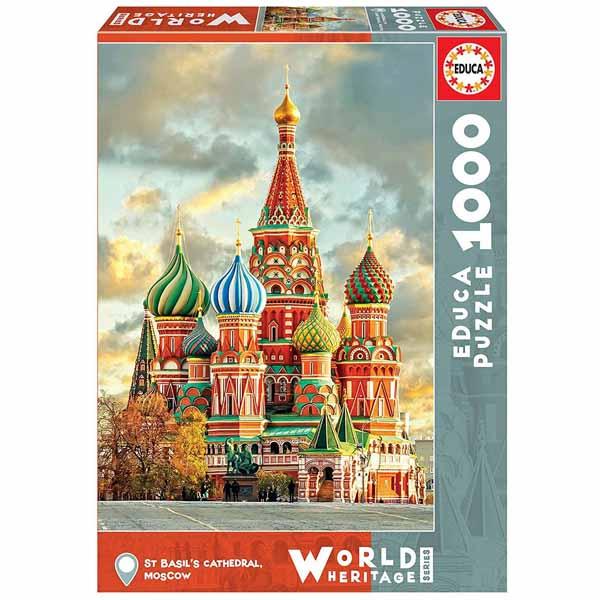 Пъзел Educa от 1000 части - Катедралата Сан Базилио в Москва