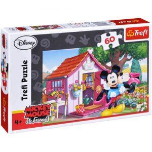 Пъзел Trefl от 60 части - Мики и Мини Маус в градината