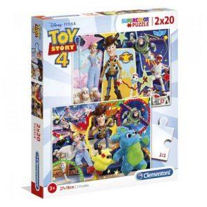 Пъзел за оцветяване Clementoni от 2 x 20 части - Toy Story 4