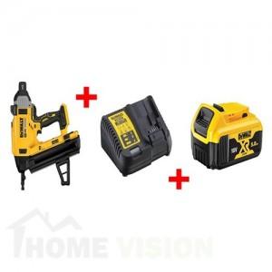 Акумулаторен такер за коване на пирони в бетон DEWALT DCN890N 18 V 13-57 ММ + куфар + зарядно + 1 батерия 5 АЧ DCB184
