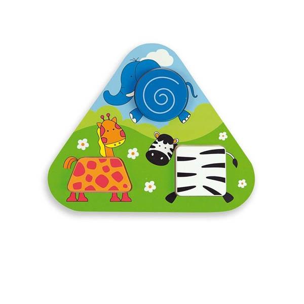 Триъгълен пъзел Andreu toys – Джунгла