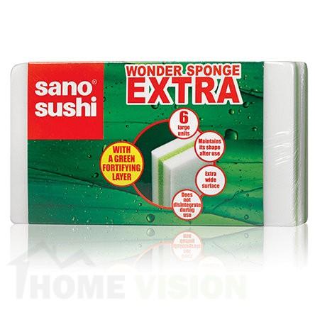 Универсална почистваща гъба Sano Extra 6 броя