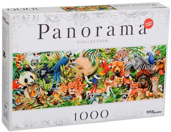 Панорамен пъзел Step Puzzle от 1000 части - Животински свят
