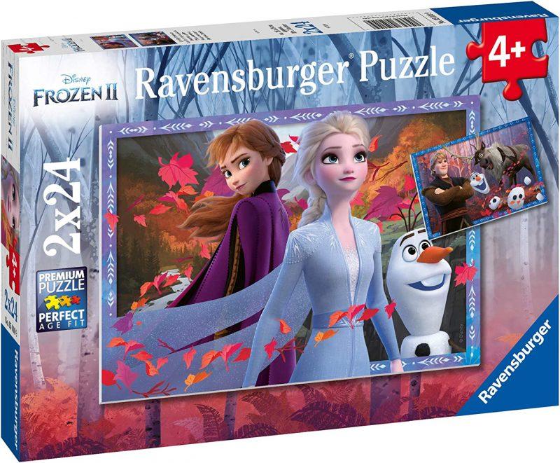 Пъзел Ravensburger от 2 x 24 части - Приключения в Замръзналото кралство 2