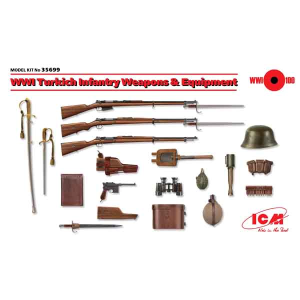 1:35 Въоръжение и оборудване на турската пехота, Първа световна война (WWI Turkich Infantry Weapons & Equipment)