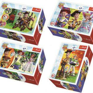 Мини пъзел Trefl от 54 части - Веселият свят, Toy Story, асортимент