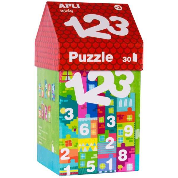 Образователен пъзел APLI Kids от 30 части - Къща от цифри