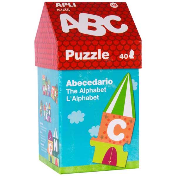 Образователен пъзел APLI Kids от 40 части - Къщичка от букви
