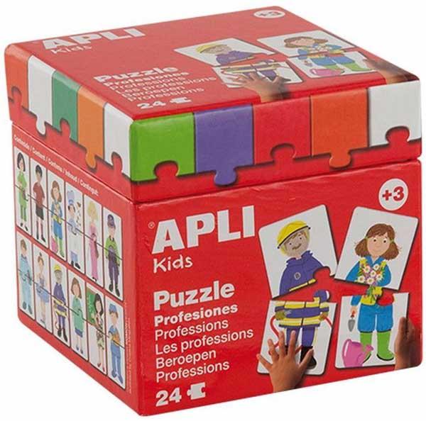 Образователен пъзел APLI от 24 части - Професии