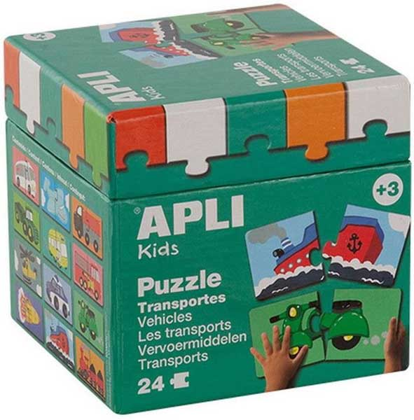Образователен пъзел APLI от 36 части - Транспорт