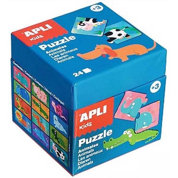 Образователен пъзел APLI от 24 части - Животни