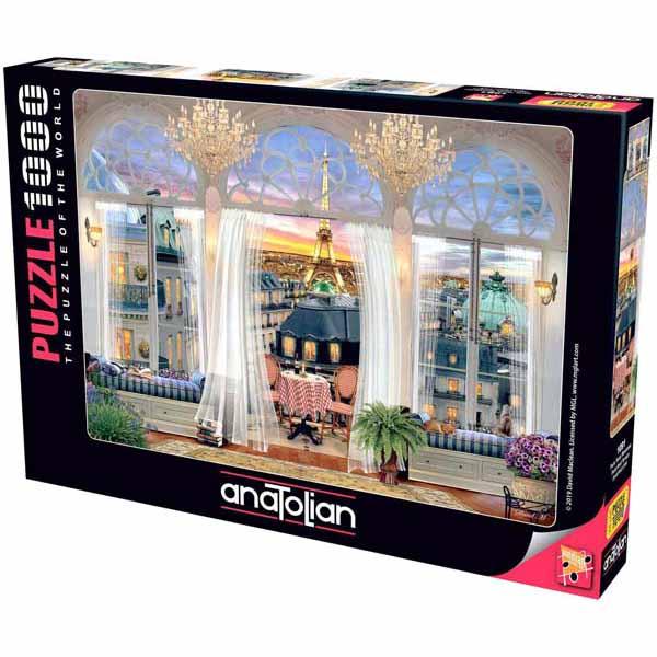 Пъзел Anatolian от 1000 части - Изглед от тераса в Париж