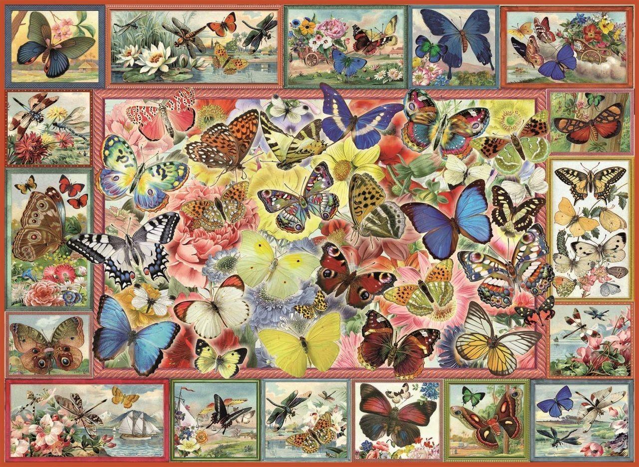 Пъзел Anatolian от 1000 части - Пеперуди