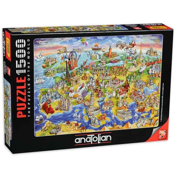 Пъзел Anatolian от 1500 части - Карта на Европа