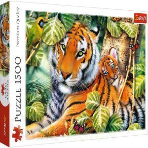 Пъзел Trefl от 1500 части - Два тигъра, Хауърд Робинсън