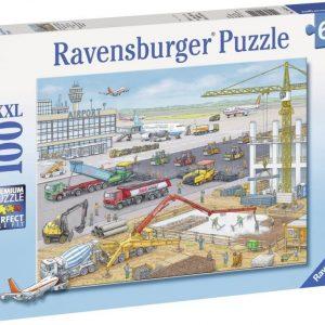 Пъзел Ravensburger от 100 XXL части - Строителна площадка на летището