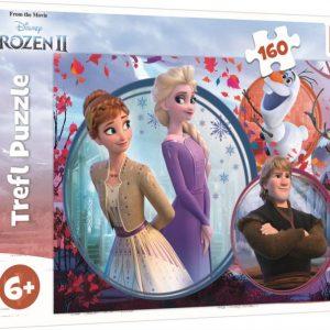 Пъзел Trefl от 160 части - Замръзналото кралство 2, Сестрински приключения