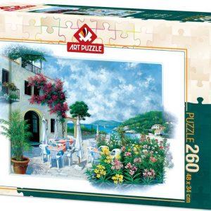 Пъзел Art Puzzle от 260 части - Крайбрежно кафене