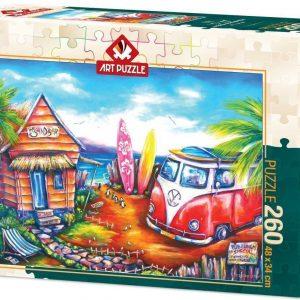 Пъзел Art Puzzle от 260 части - Сърф лагер