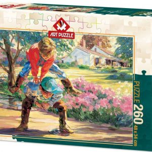 Пъзел Art Puzzle от 260 части - Игра на Прескочи кобила