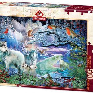 Пъзел Art Puzzle от 500 части - Ледникова гора